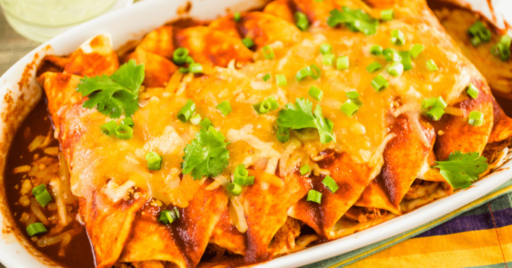 Chickaen Enchiladas with Green Onions