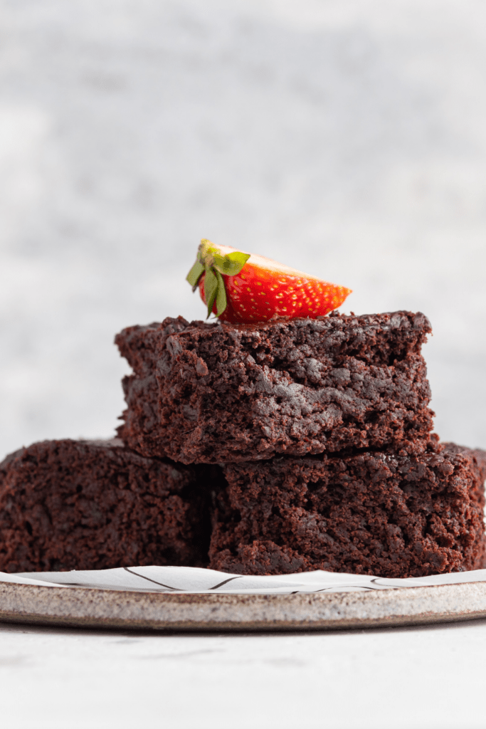 Chocolate Brownies with Strawberry