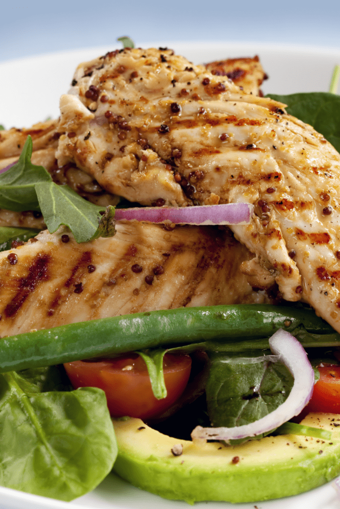 Grilled Chicken Tenderloins with Vegetables