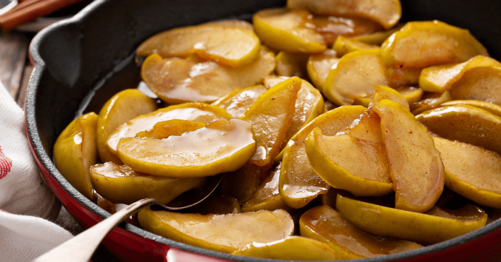 Homemade Fried Apples with Cinnamon