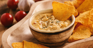 Homemade Mexican Cheese Dip with Tomatoes