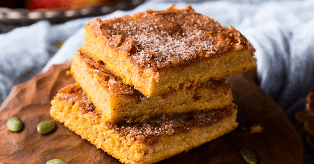 Homemade Pumpkin Blondies