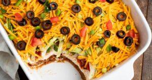 Homemade Seven Layer Taco Dip