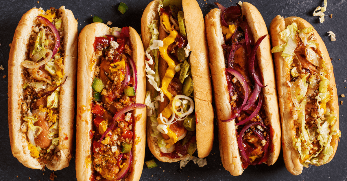 Hot Dogs with Assorted Toppings