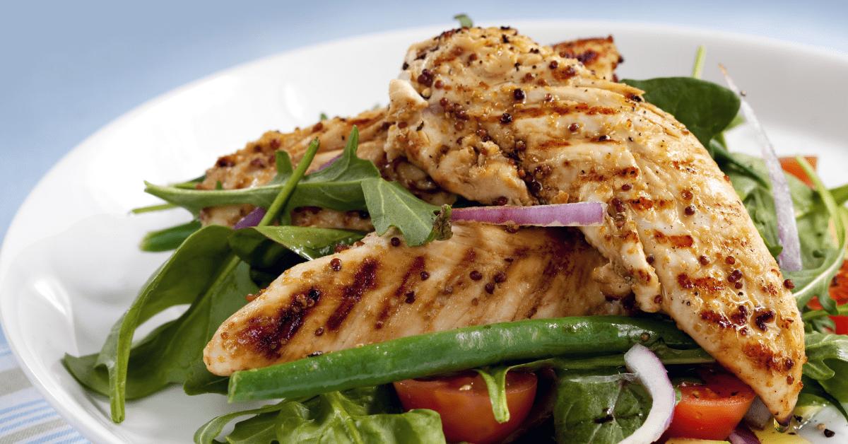 Salad of Grilled Chicken Tenderloins