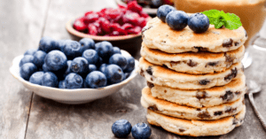 Stacks of Welsh Cakes with Blueberries