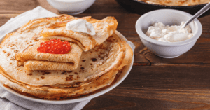 Traditional Russian Crepes Blini