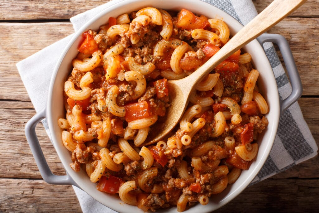 Goulash with ground beef