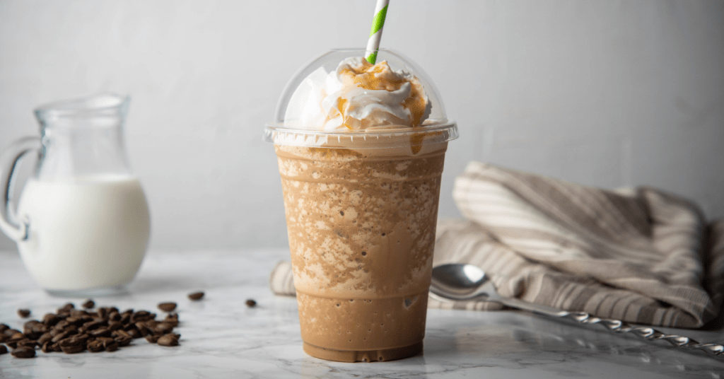 Caramel Frappe with Whipped Cream