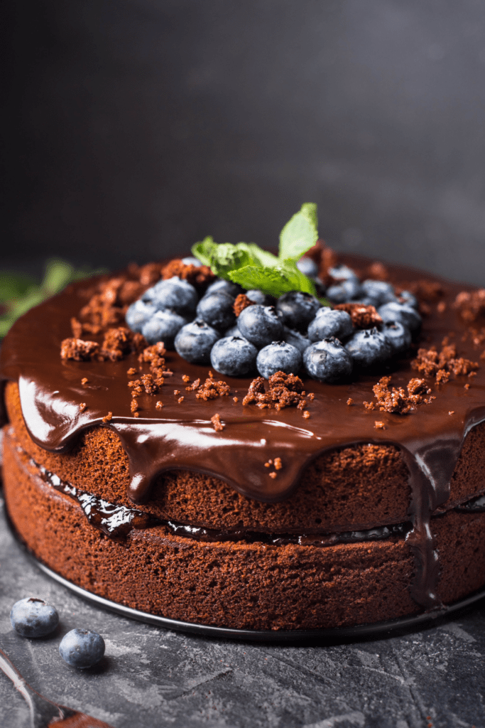 Chocolate Cake with Berry Toppings