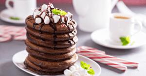 Chocolate Peppermint Pancakes