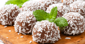 Chocolate Pralines with Coconut and Mi