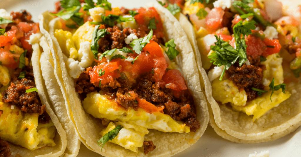 Homemade Chorizo Breakfast Tacos with Egg
