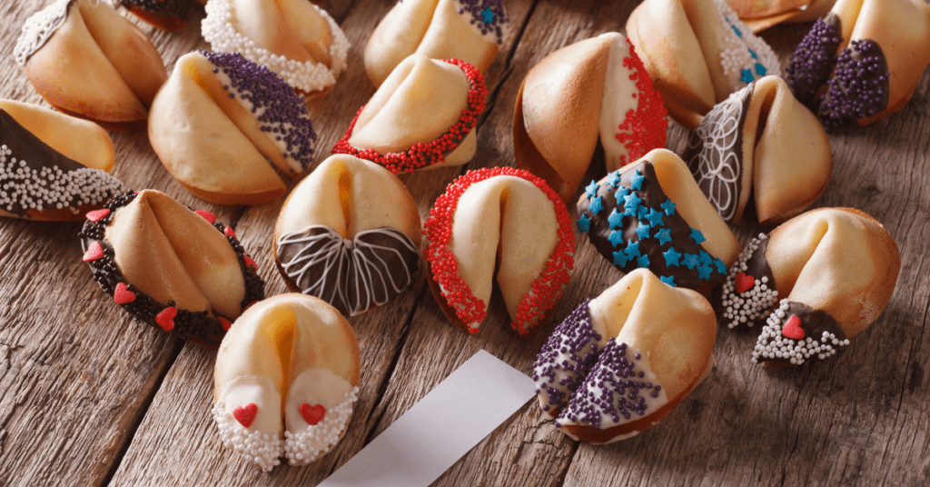 Fortune Cookies with Candy Sprinkles