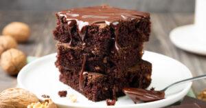 Fudge Brownie with Chocolate Syrup