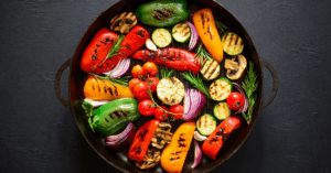 Grilled Vegetables in Cast Iron