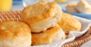 Homemade Biscuits in a Basket