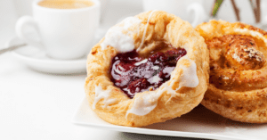 Homemade Danish Pastry with Coffee