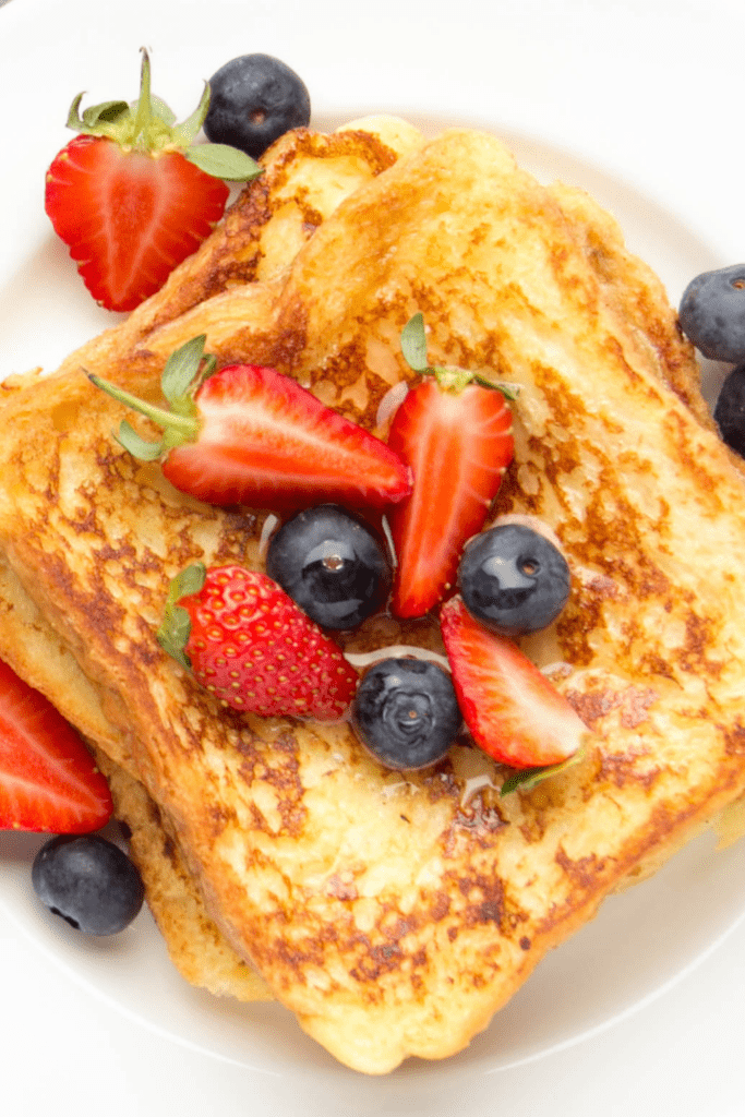Homemade French Toast with Berries