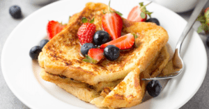 Homemade French Toast with Fruit Berries