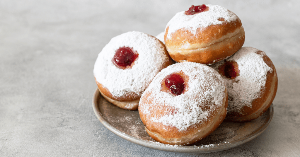 Homemade Jam Doughnuts