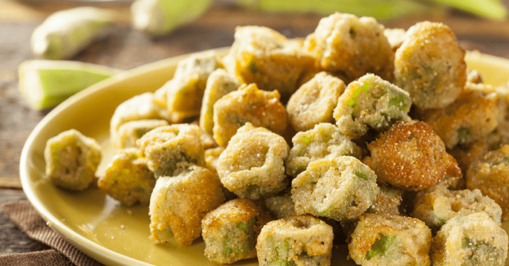 Homemade Organic Fried Okra