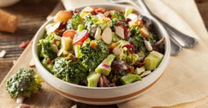 Homemade Broccoli Salad with Grapes