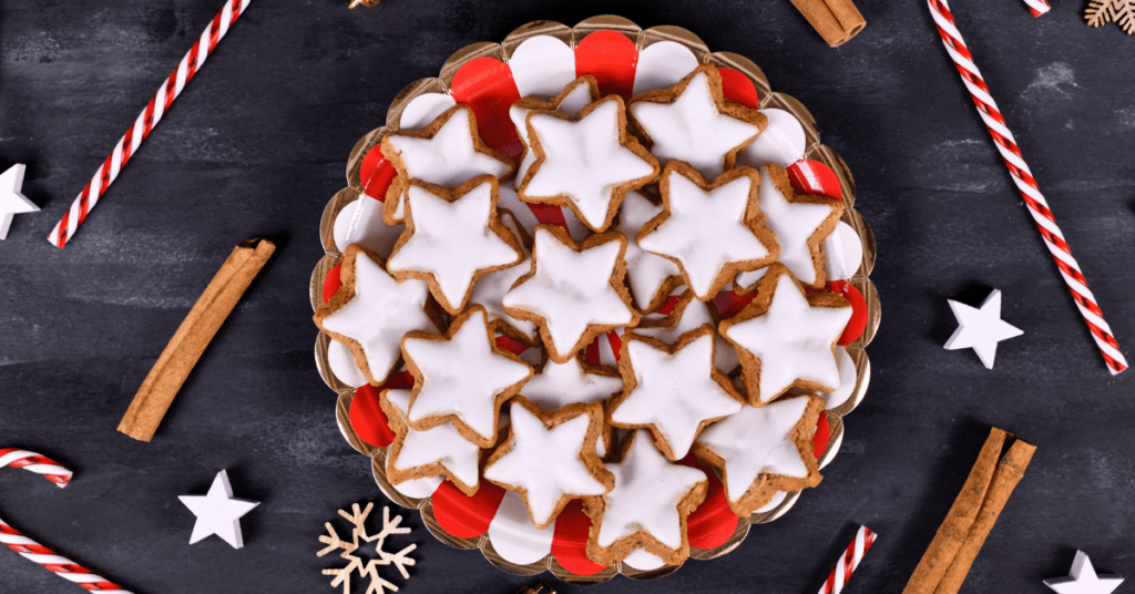 Star Shaped Glazed Cookies
