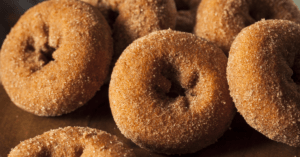 Sugared Apple Cider Donuts with Cinnamon