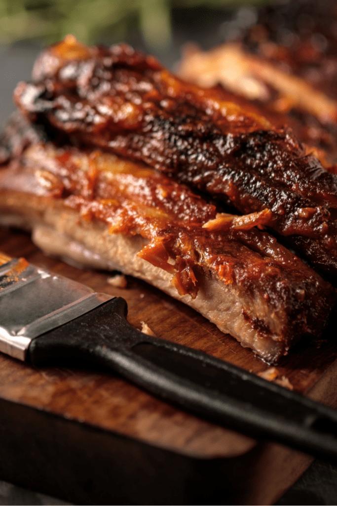 BBQ Ribs Close Up