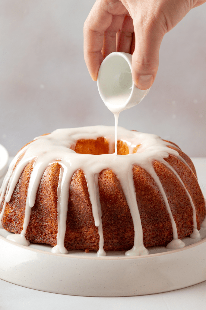 Bundt Butter Cake Poured with Icing