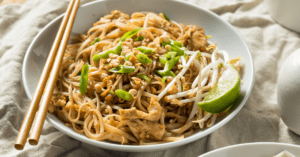 Chicken Pad Thai with Bean Sprouts