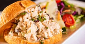 Chicken Waldorf Salad on Croissant
