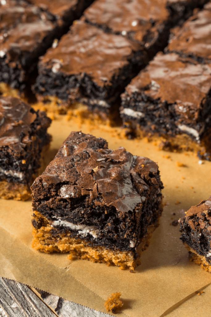 Chocolate Slutty Brownies with Cookies Inside