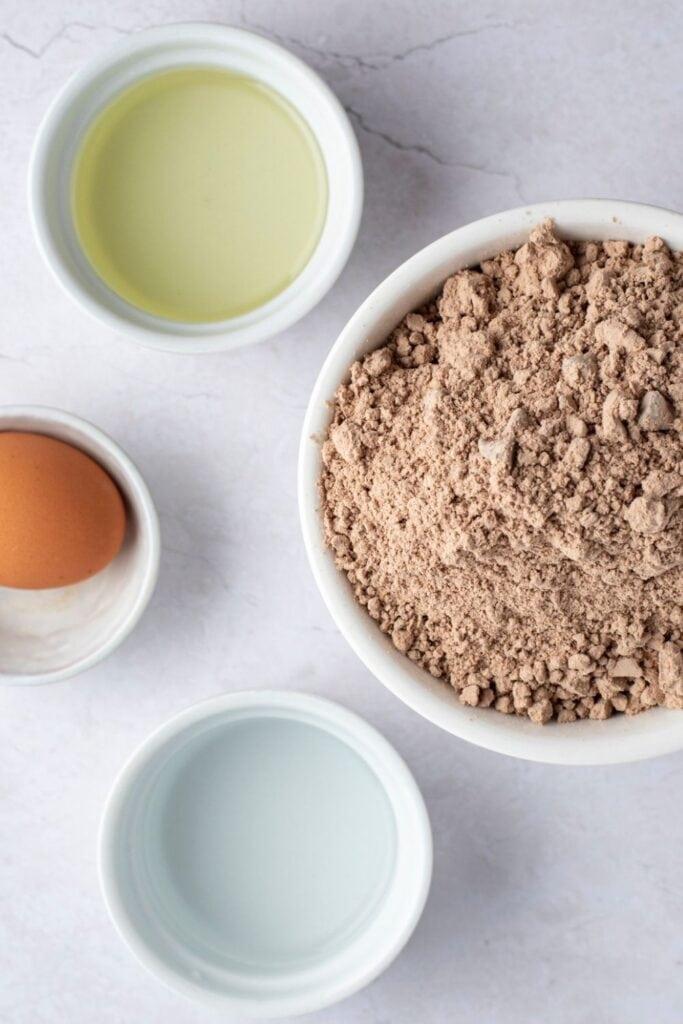 Ghirardelli Brownie Mix Ingredients: Brownie Mix, Water, Eggs, Vegetable Oil