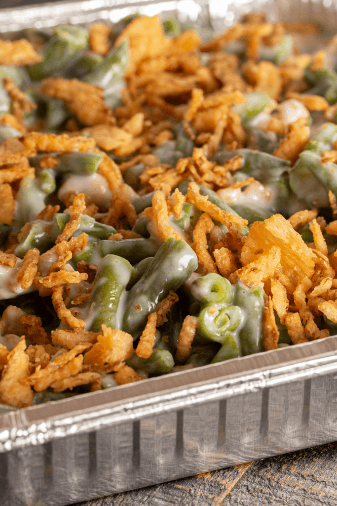 Traditional Green Bean Casserole with Fried Onions
