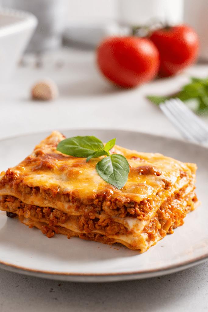 Ground Beef Lasagna on Plate