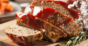Ground Beef Meatloaf with Ketchup and Spices