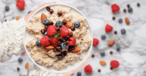 Healthy Oatmeal Served with Berries