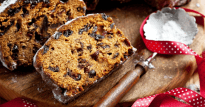 Homemade Cake with Raisins and Walnuts