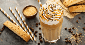 Homemade Caramel Frappe with Chocolate Chips