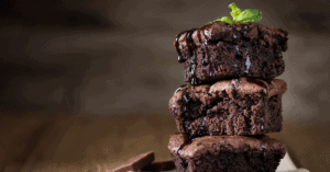 Homemade Chocolate Brownies with Melted Chocolate