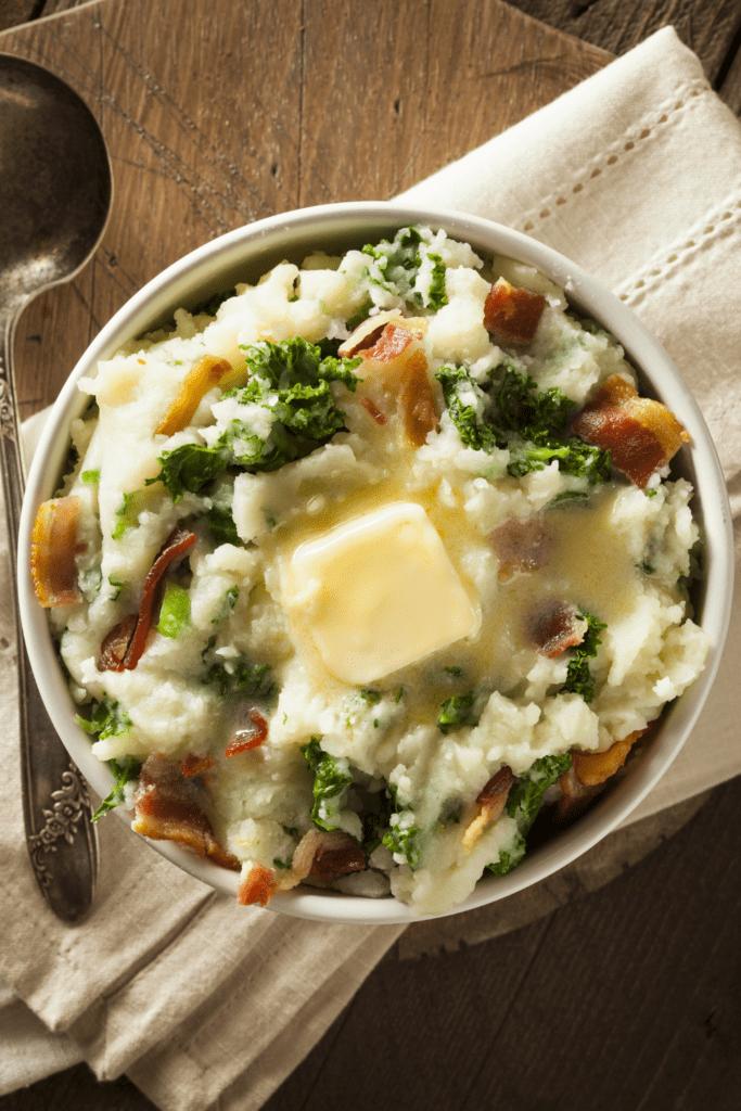 Homemade Irish Mashed Potatoes Colcannon