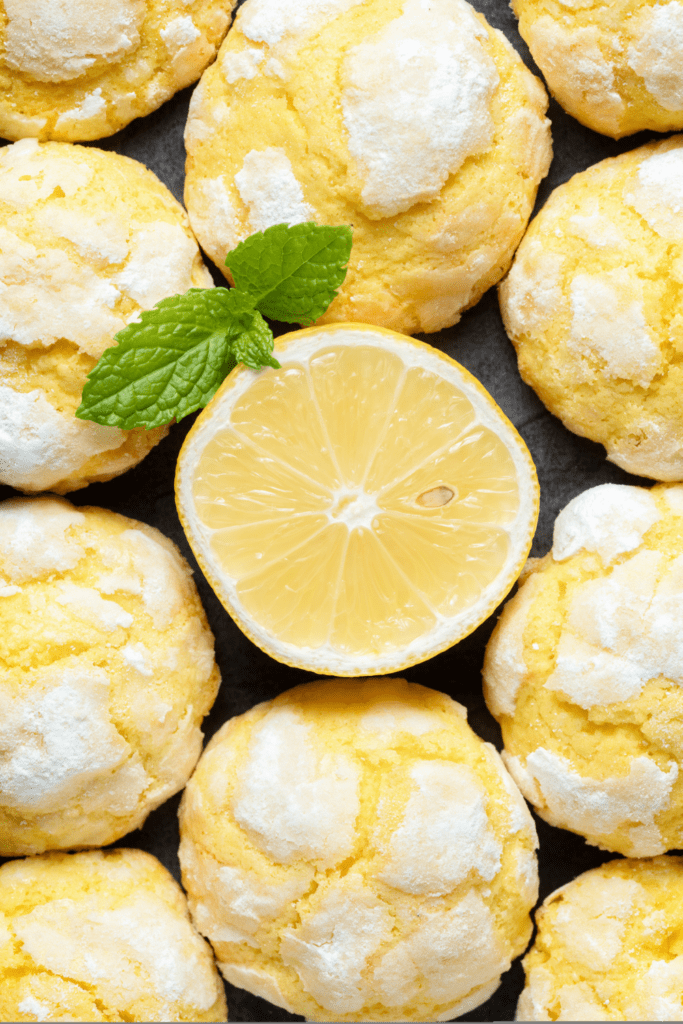 Homemade Lemon Cake Cookies with Lemon