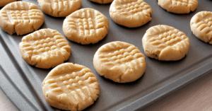 Homemade Peanut Butter Cookies in a Sheet Pan