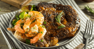 Homemade Steak and Shrimp Surf and Turf