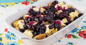 Homemade Blueberry French Toast Casserole