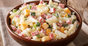 Pasta Salad with Ham and Pineapple