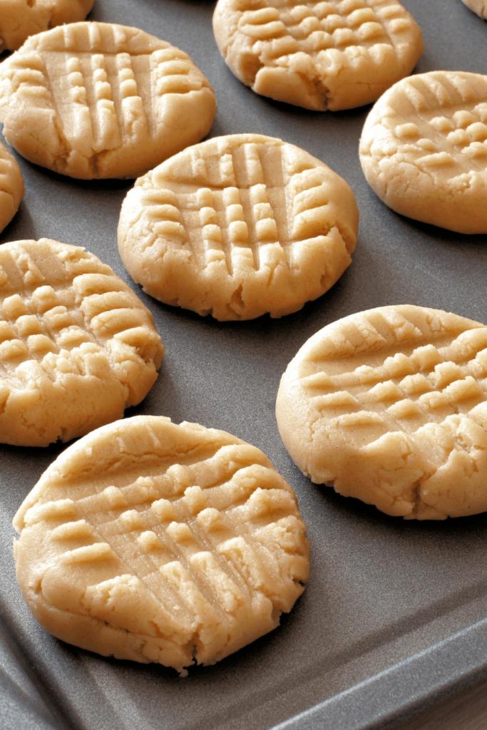 Peanut Butter Cookies in a Sheet Pan