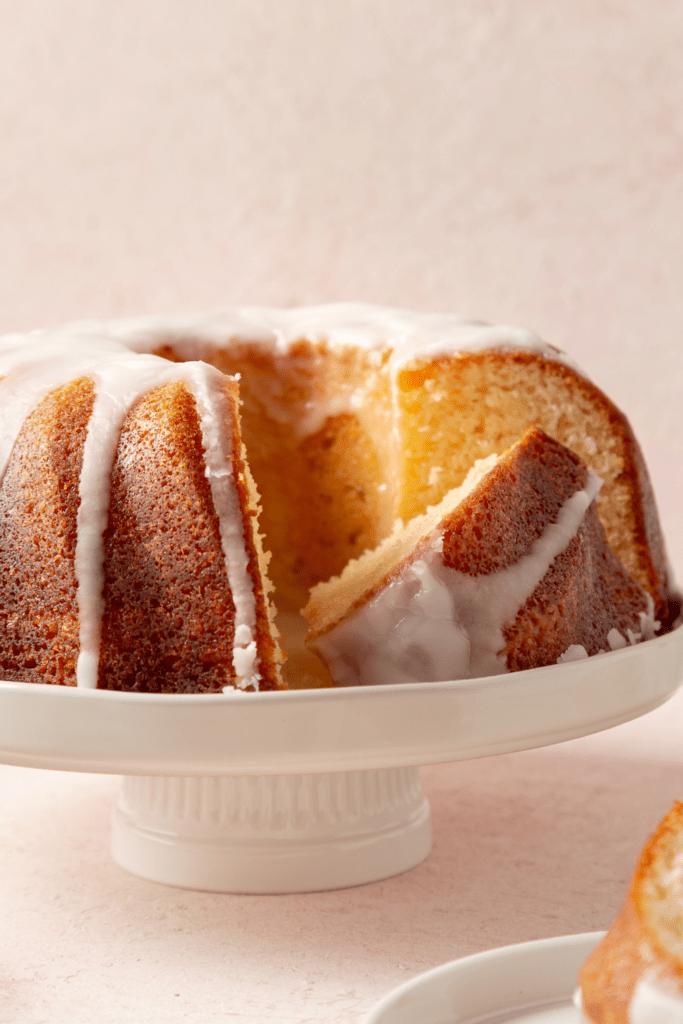 Sliced Bundt Butter Cake